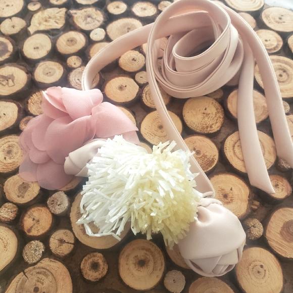 {J. Crew} Satin Floral Belt Sash